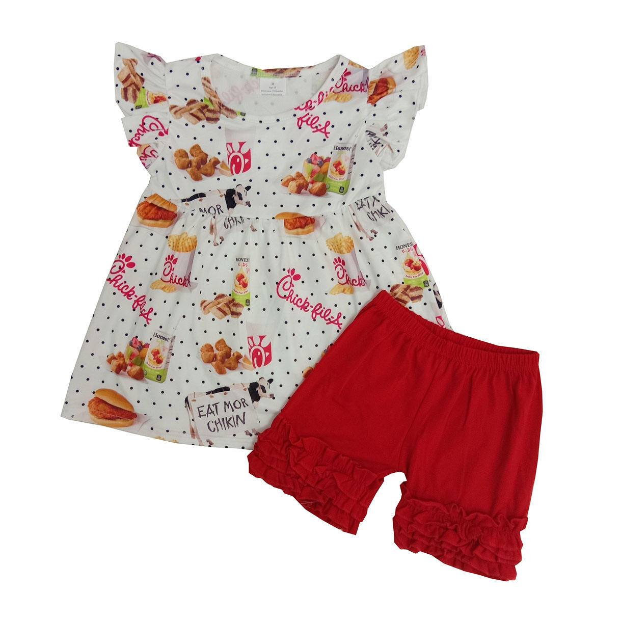 newborn baby girl clothing boutique junior casual dresses ruffle Tshirt top red shorts cute kids clothing plus size online