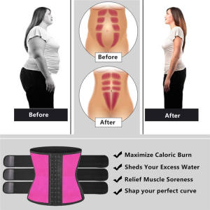 Personalized Custom Top Quality Womans Gym Black 3 Belt Triple Compression Ladies Tight 6Xl Fitness Waist Trainer Belt For Women