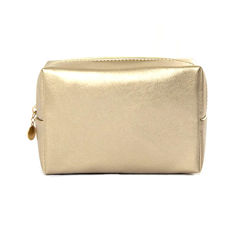 Wholesale Custom Shiny PU Leather Elegant Women Small Cosmetic Clutch Makeup Zipper Bag