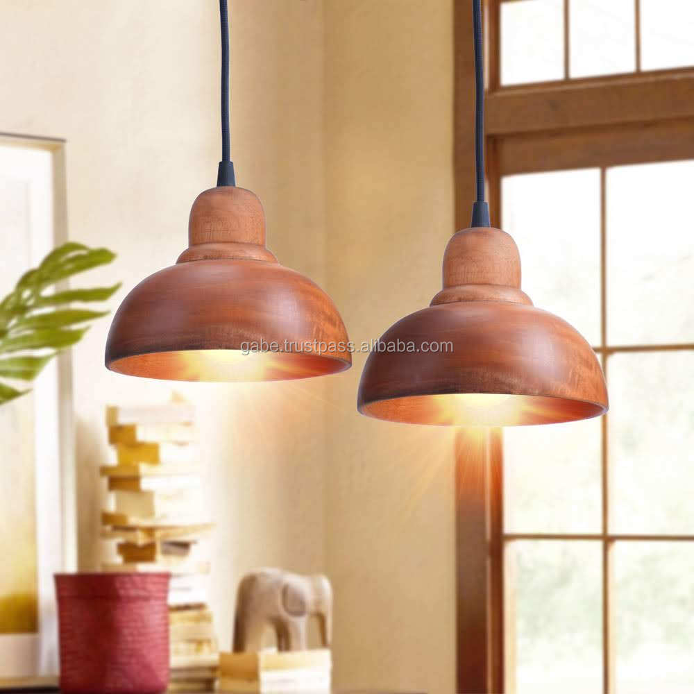 Modern Pendant Lamp Solid Wood Handmade Italy for Restaurant Classic
