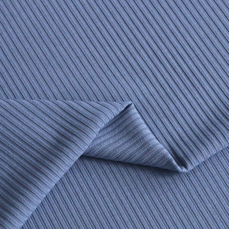 9127# Wear-resistant 25%rayon , 68% polyester,7% spandex rib knit fabric for coat , dress