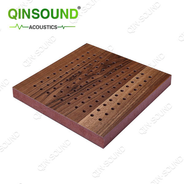 Decoration Wooden Micro Perforated Soundproofing Panel Special For Operating Room