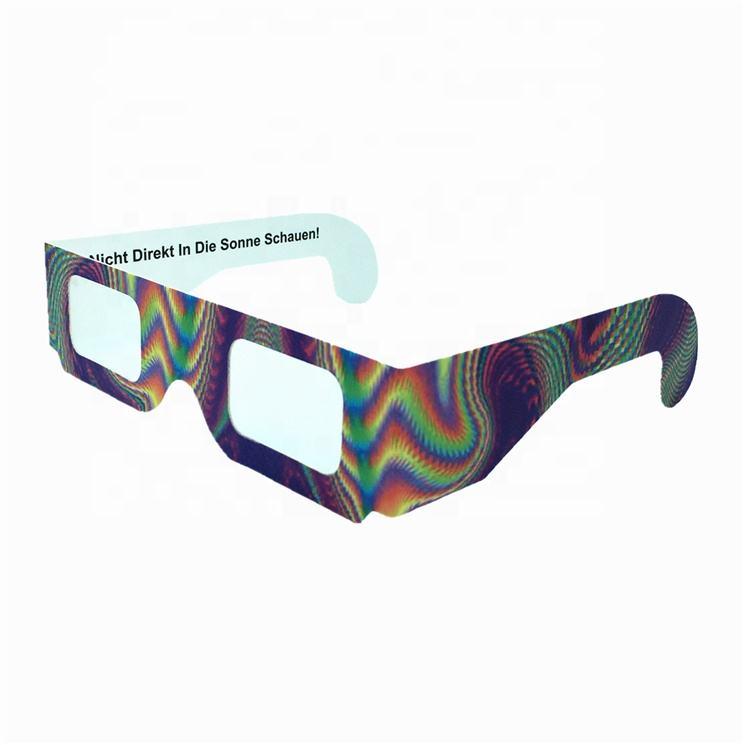 Custom Paper 3d Fireworks Diffraction Glasses