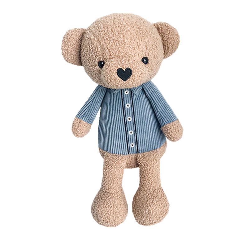2021 Stock Factory Cute Cartoon Teddy Bear Stuffed Plush Toy Animal Carrying Backpack Bag