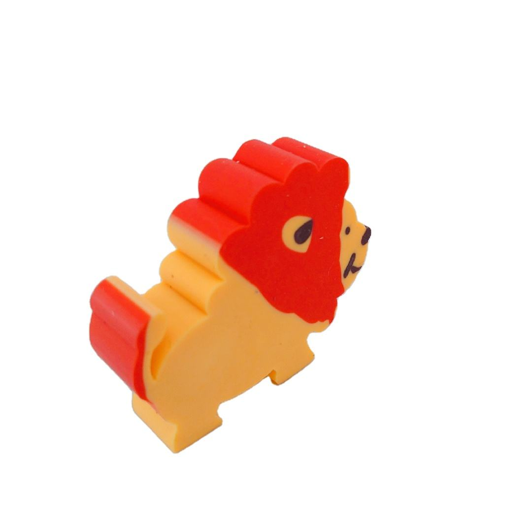 Animal shaped carton cute eraser for students