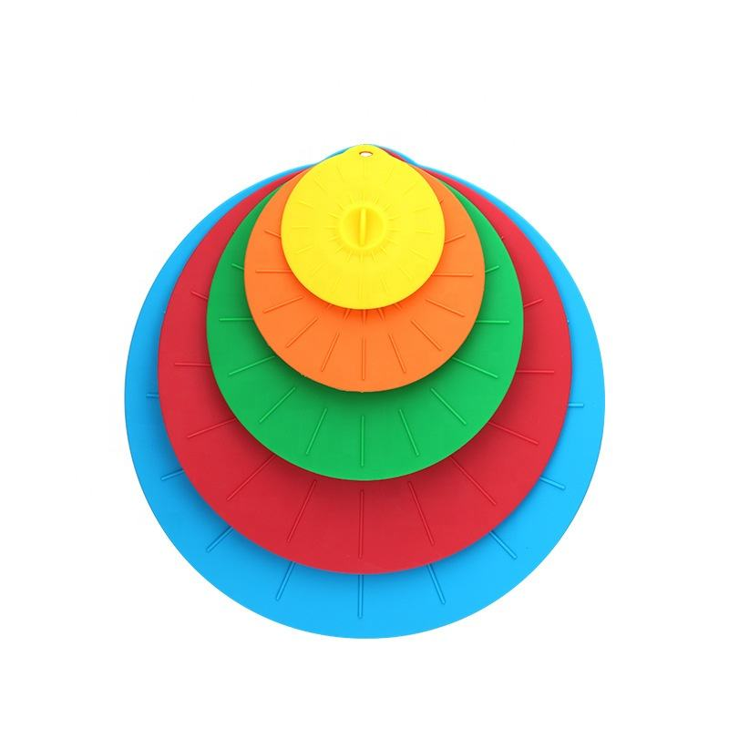 Cheap Wholesale 5 Pack Silicone Rubber Fruit Food Fresh Keeping Seal Cover Kitchenware Lids