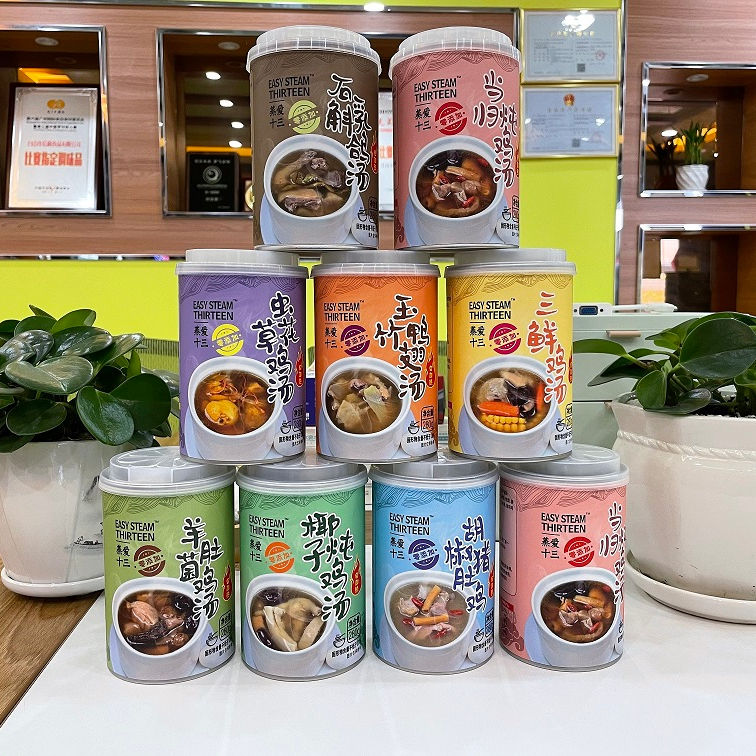 High Quality Good Material Nutritious 280g Auto Heat Soup With Many Kinds Of Flavor