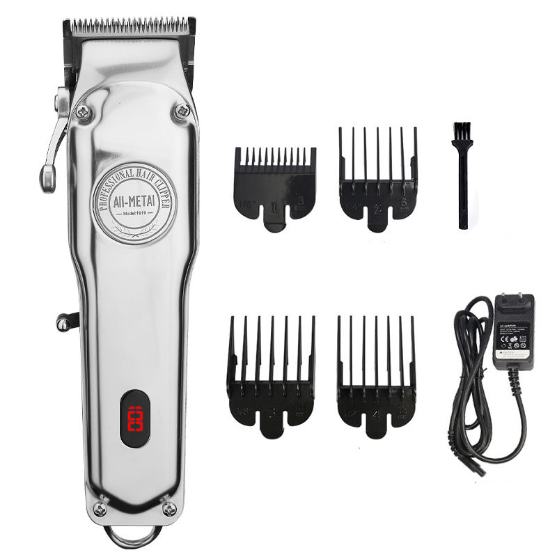 RESUXI 1919 Professional all metal 100 year clipper LCD Display Cordless 1919 Stylists Barbers Hair Trimmer