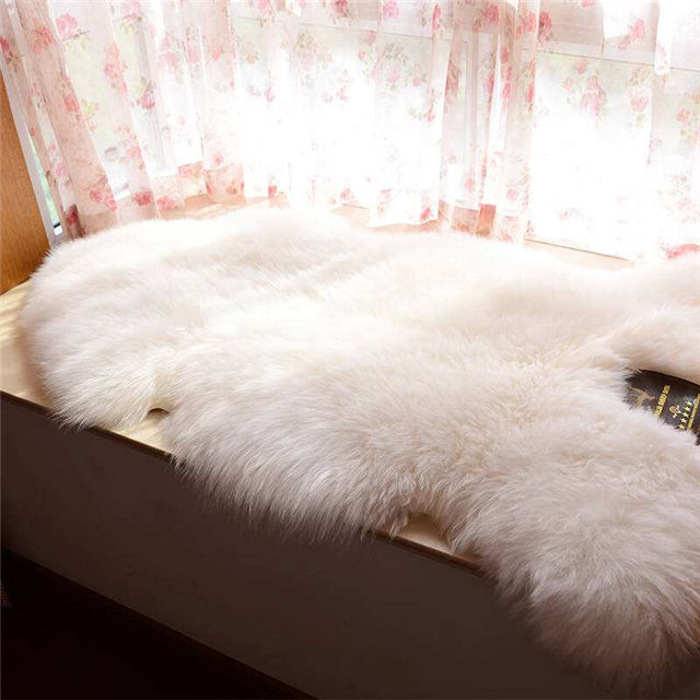 High quality australia real sheepskin rug pelt wholesale