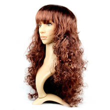 Halloween Carnival long curly wave wig women color cartoon Cosplay wig