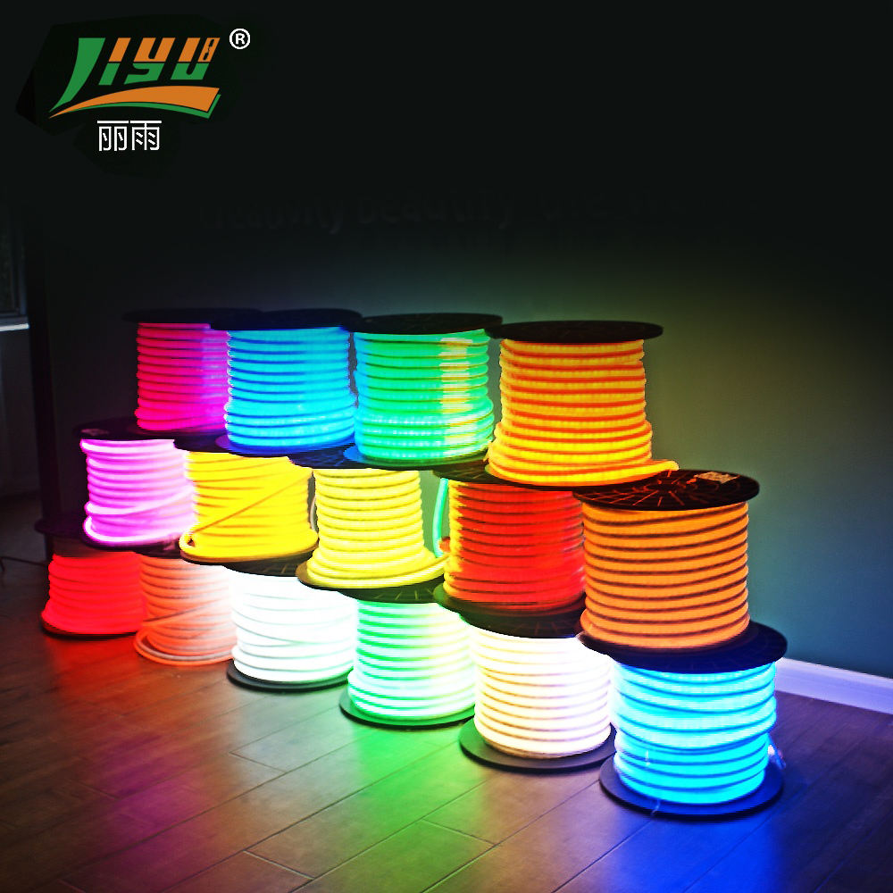 100 M Grosir Tahan Air Mini Neon Flex Dekoratif LED Rope Light Lampu Neon