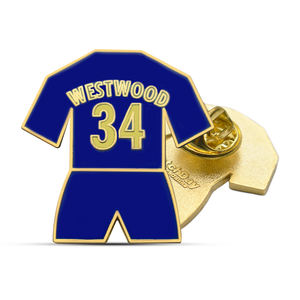 Factory direct sale custom westwood Metal jersey badge colorful enamel sports soccer basketball lapel pin for souvenir