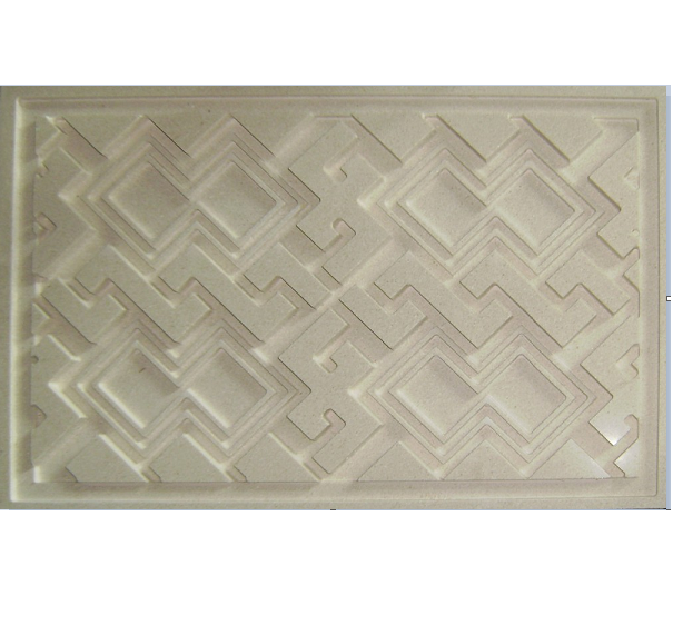 Golden Beige Marble CNC Interior Wall Decorative Panel Water Jet Mosaic Tiles