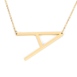 2020 Fashion Trendy Personalized English Alphabet Letter Initial Pendant Gold Choke Minimalist Design Necklace