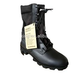 army black leather tactical boots