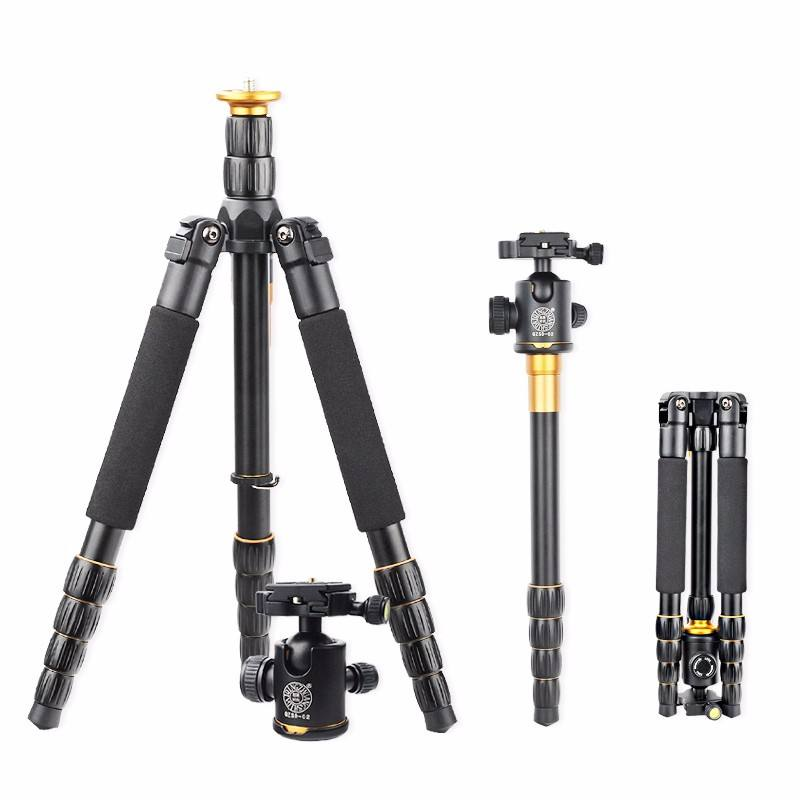 Professional Photo DSLR Original Q999C Better Monopod+Ball Carbon Camera QZSD Q666 Fiber Camera Tripod Head/Portable