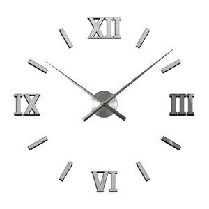 2021 nordic luxury silent acrylic sticker cheap big DIY 3D Home Decorative digital modern Wall Clocks wall horloge reloj pared