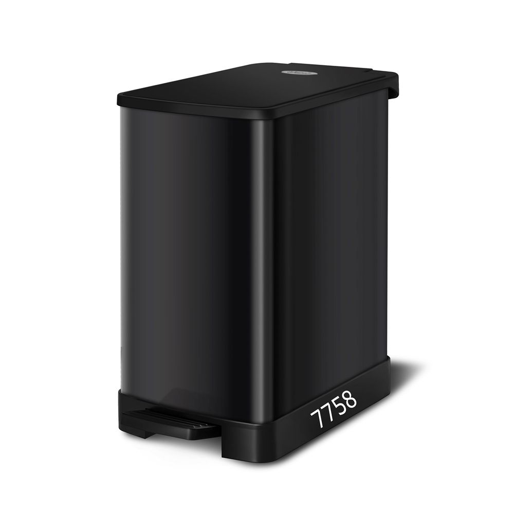 20l soft close damper with high quality black lid rubbish dustbin trash can
