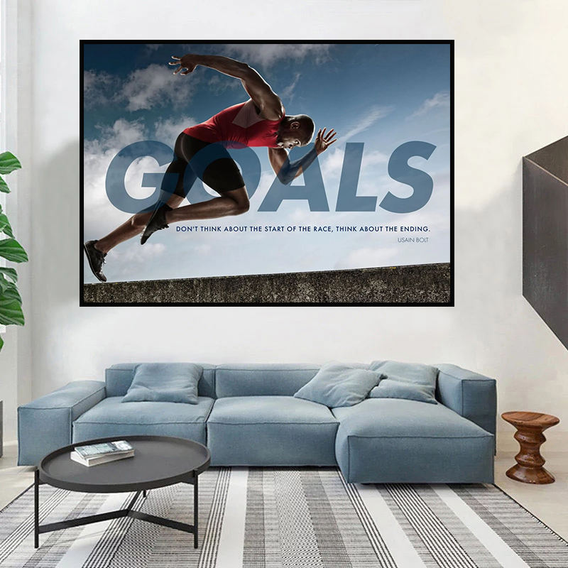 Entrepreneur GOALS Wall Art Canvas Prints Office Decor Motivational Painting Art Collection for Gym and Home Decorative Poster