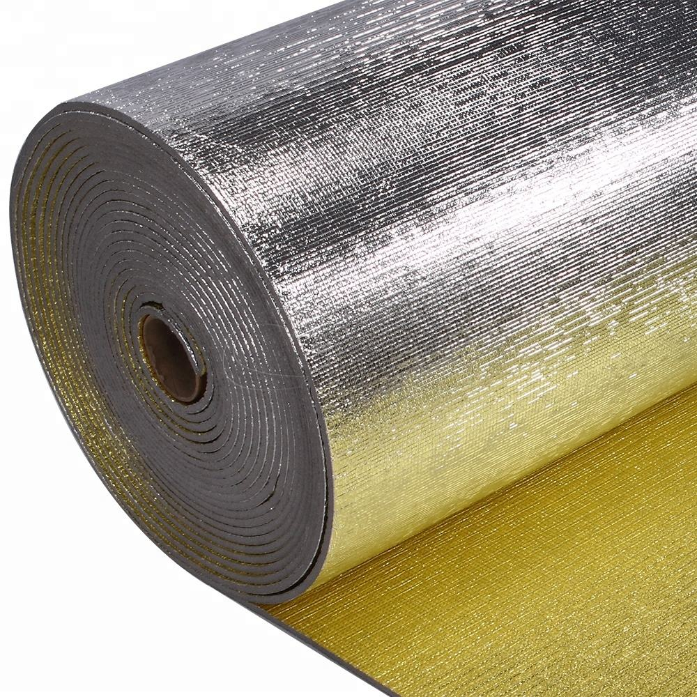 White Fireproof Heat Reflective Aluminium Foil Cross Linked Polyolefin Insulation Pe Foam Xpe Roll Material For Ducts