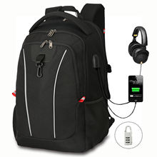2020 New Fashion Hot Selling Computer Bag Rucksack with USB Charging and Headphone Port Soft Backpack Anti Theft Laptop Backpack