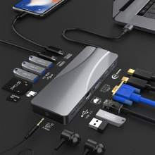 Custom OEM usb type-c hub type c docking station with hd-mi+usb3.0+pd power delivery charger usb-c to usb adapter for surfacepro