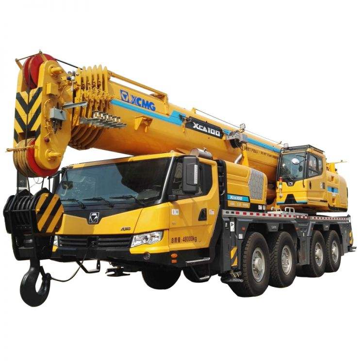 TOP Brand new 100t All Terrain Mobile Truck Crane 100 tons XCA100 with parts for sale