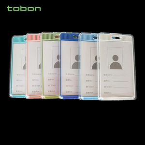 new silicone business ID card holder for meeting office and student card holder