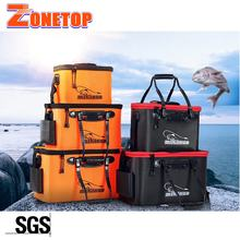 Wholesale Folding Thicken Wear-resistant 11L 19L 25L 28L 35L Foldable Waterproof Fishing Bucket