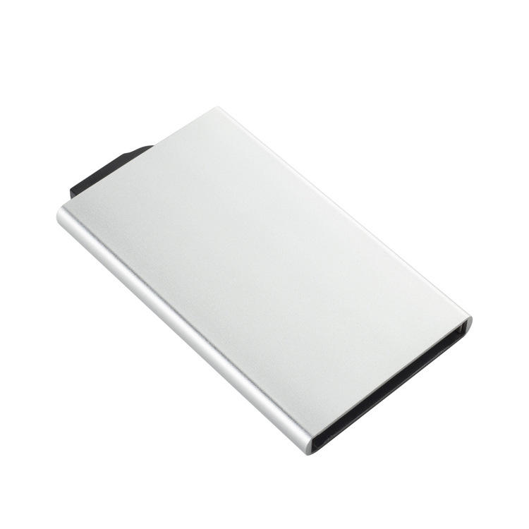 RFID Credit Card Holder Pop Up with Sliding Blocking Security Slim Wallet Case for Men and Women