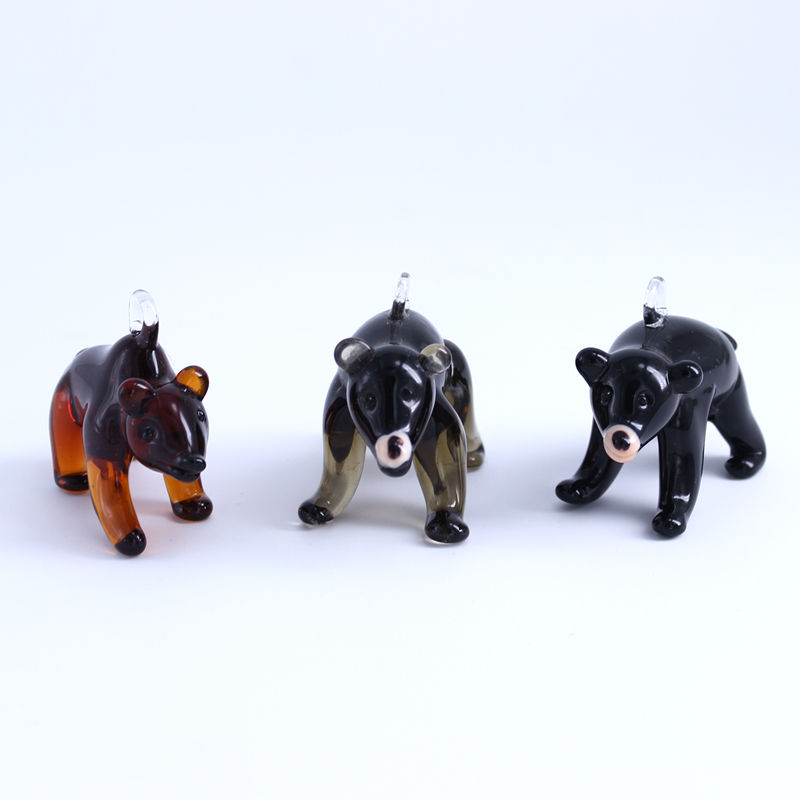 <span class=keywords><strong>Chalumeau</strong></span> verre de murano figurines d'ours