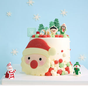 New Style Christmas Cake Mold Santa Penguin Pine Cones Mold Creative Funny Chocolate Fondant Silicone Mould