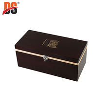 DS Wholesale Red High Glossy Lacquer Custom Wooden Wine Boxes
