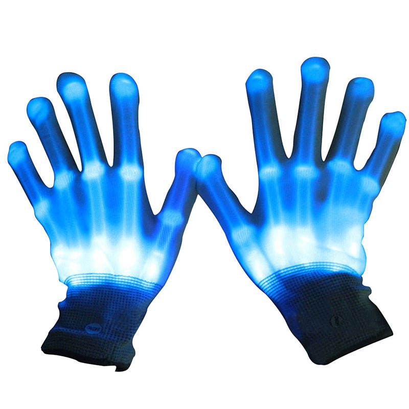 2020 New Unique Product Ideas Party Light Show Lightshow Dancing Glow In The Dark LED Skeleton Halloween Glove