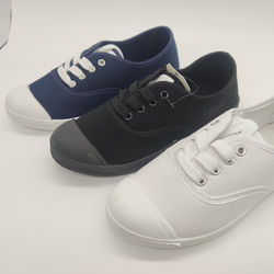 New casual versatile cloth canvas shoes student shoes laces walking versatile shoes in stock