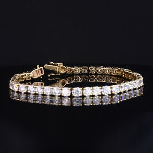 Fine Jewelry Classic 9K 14K 18K Oro 4 millimetri rotonda lab grown diamond tennis bracelet