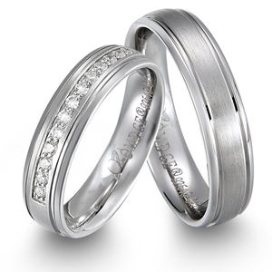 Chandrika wedding band fashion Jewellers 925 Silver Couple Band Ring for Men and Women