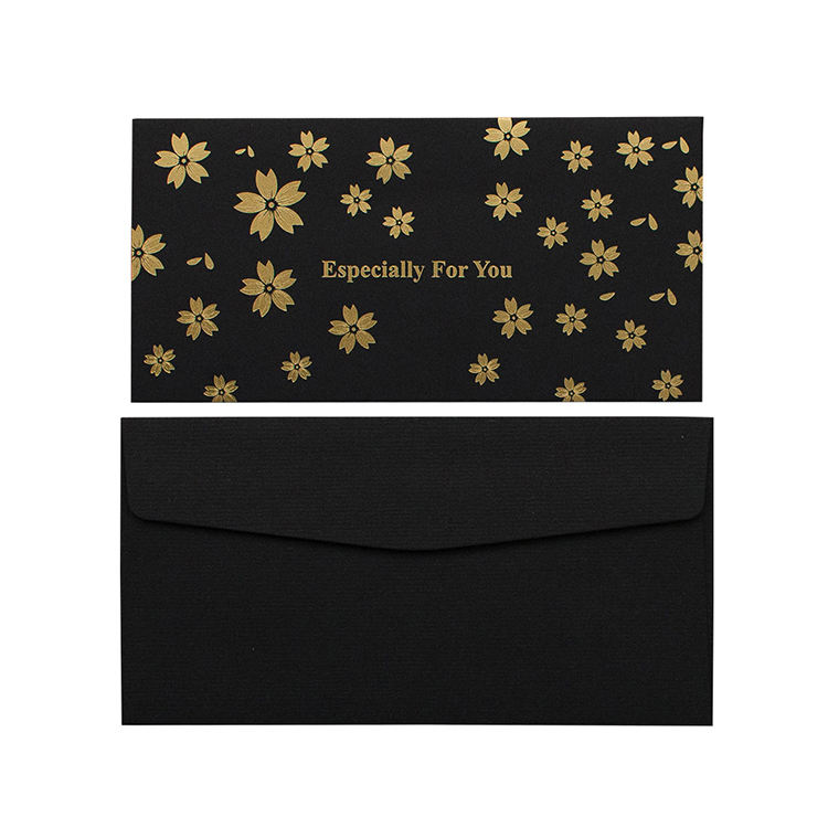 Customized Design Printed gold foil Greeting Cards With Envelopes