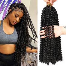 Passion Twist Hair 18 Inch Water Wave Synthetic Braids For Passion Twist Crochet Braiding Hair Goddess Locs Long Bohemian Locs