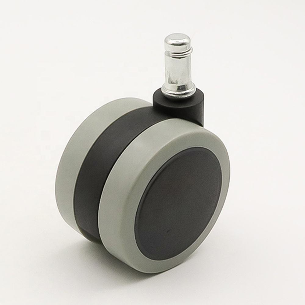 Ring stem cabinet caster wheels with brake 65mm furniture PVC casters