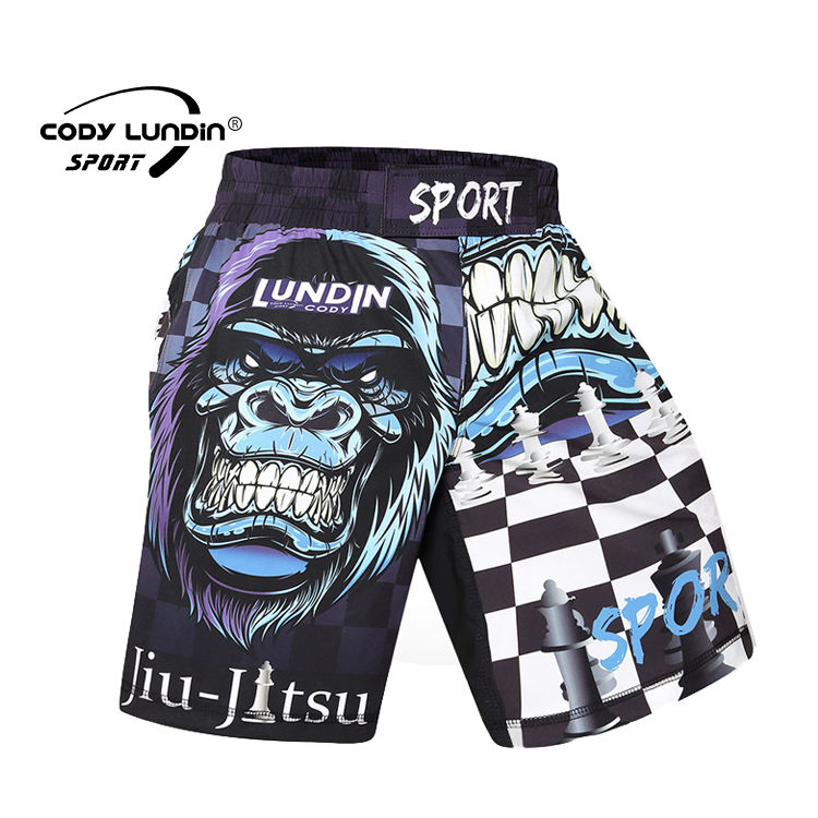 wholesale quickly dry fight shorts custom printing the pattern gym mma shorts for man