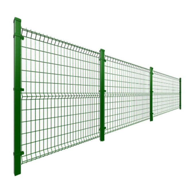 3D Welded Railway Wire Mesh Fence With Triangle Bends 75x150mm Rectangle Hole