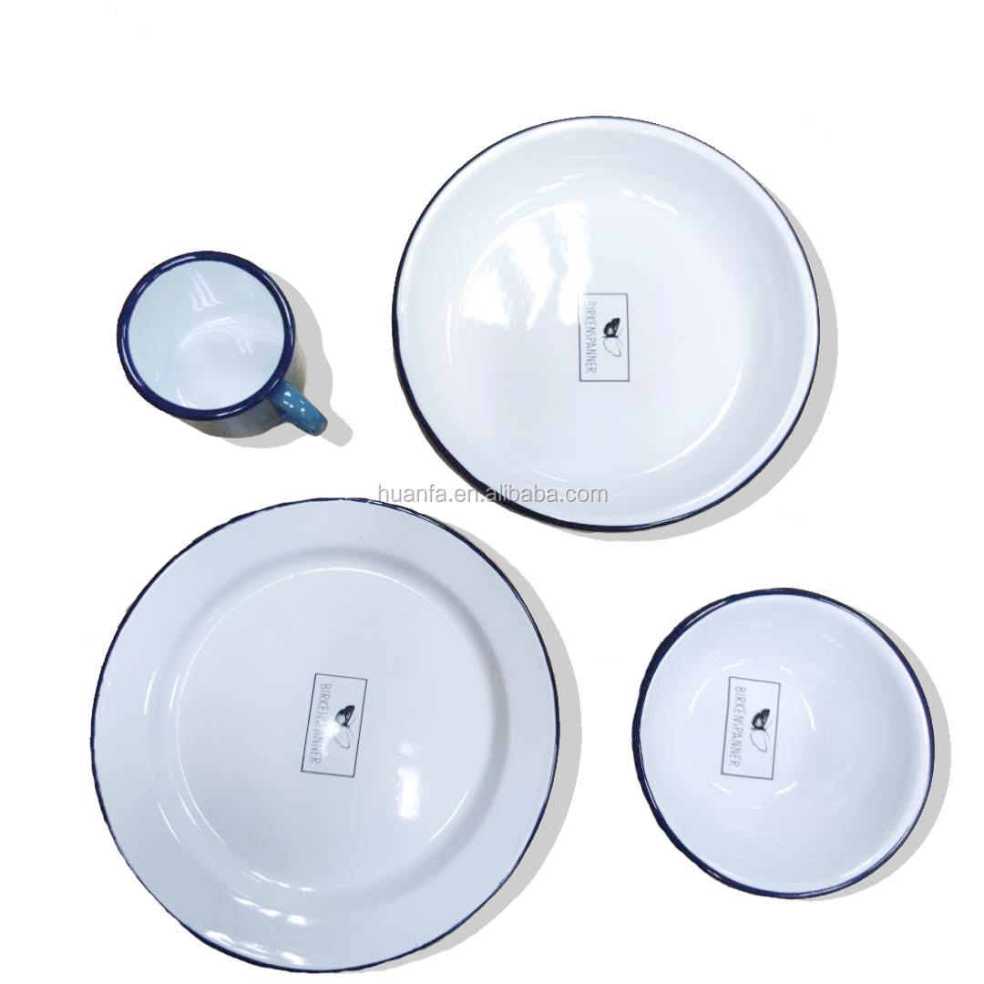Popular Restaurant Enamelware Set Melamine Porcelain Enamel Dinner Set/Bone China Dinner Set