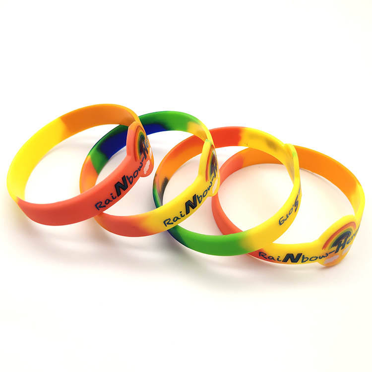 Custom bracelet rubber design logo fashion silicone wrist band for personalized