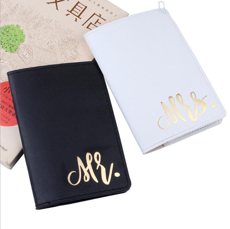 Wholesale New Wedding Favor Mr and Mrs PU Leather Travel Wallet Card Passport Holders