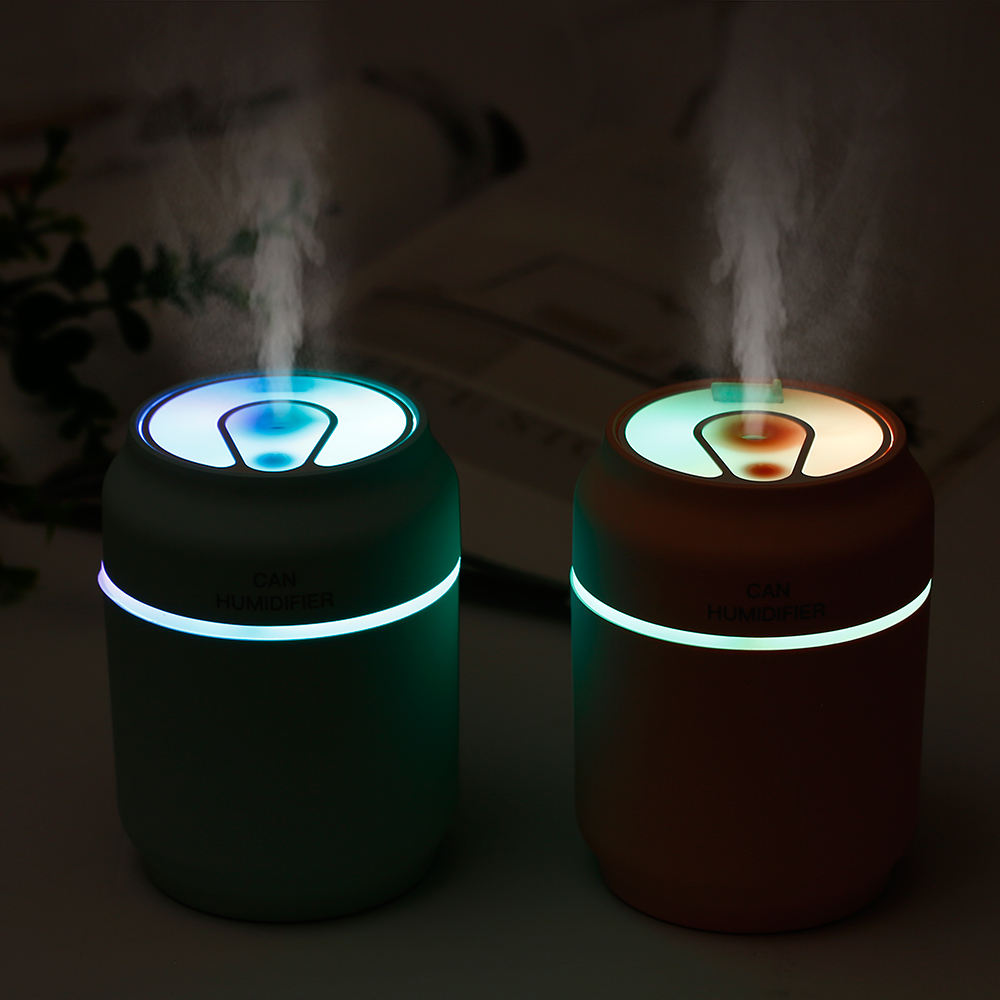 Exquisite USB Car Humidifier Aroma Diffuser Cool Mist LED Night Light Mute Rechargeable Air Humidifier