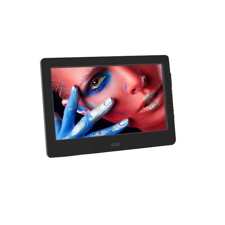 Factory Directly Sales ABS Front Video LCD Digital Photo Frame With Wide Viewing Angle hd Free Vedios Promotion Picture Frame