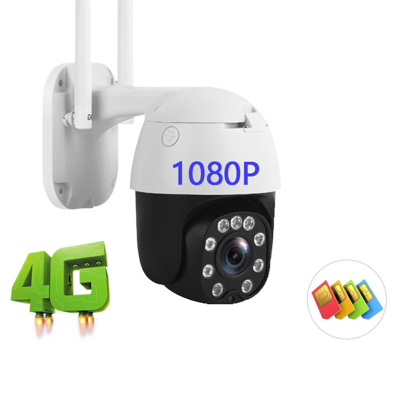 OME IP Camara 4G Auto Tracking Wifi IP PTZ Camera Outdoor 1080P 2MP P2P HD Wifi Surveillance Security 4G CCTV Camera For Outdoor