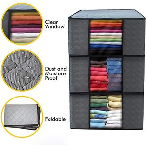 Heavy Duty Large 84L Foldable Fabric Cloth Blankets Underbed Storage bag