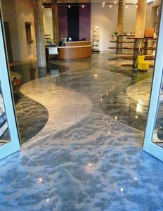Decorative Metallic Epoxy Floor Paint